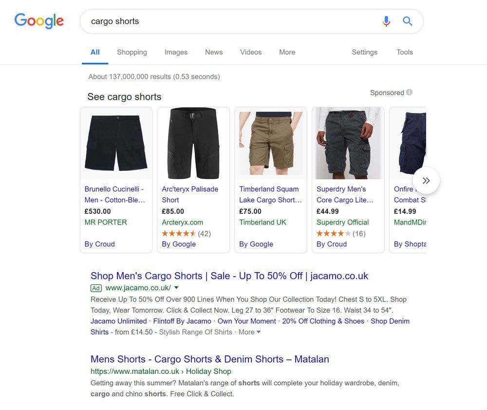 Part 1 - Google Shopping carousel ads