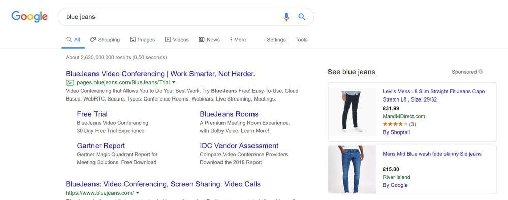 Part 1 - Google Shopping sidebar ads