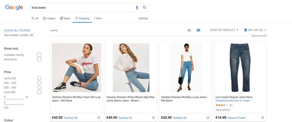 Part 1 - Google Shopping tab
